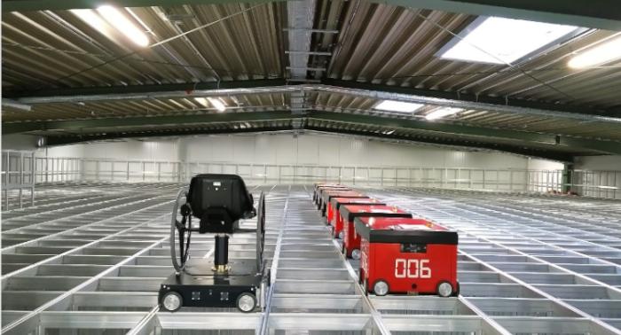Inbetriebnahme des neuen Lagersystems