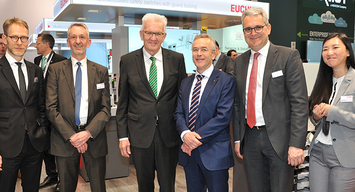 Prominent visitor at Hannover Messe 2019